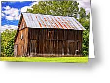 An American Barn 2 Painted Greeting Card