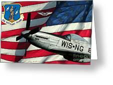 An American F-51 Ang Greeting Card