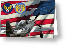 An American P-51d Pof Greeting Card