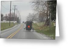 An Amish Buggy In April Greeting Card