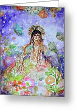 An Angel For All Of The Chakras And Her Name Is Simplicity Greeting Card