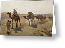 An Arab Caravan Greeting Card