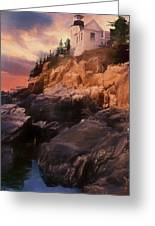 An Art Photograph Of  Bass Harbor Lighthouse,acadia Nat. Park Ma Greeting Card