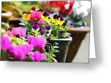 An Artsy Garden Greeting Card