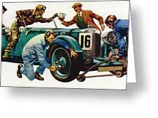 An Aston Martin Racing Car, Vintage 1932 Greeting Card