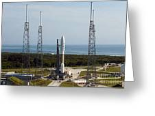 An Atlas V-551 Launch Vehicle At Cape Greeting Card