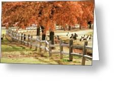 An Autumn Day At The Park Greeting Card