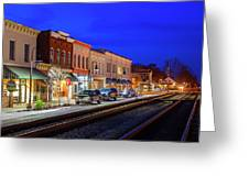 An Early Evening In Ashland Greeting Card