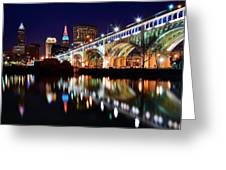 An Early Evening In Cleveland Greeting Card