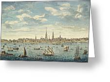 An East Prospective View Of The City Of Philadelphia Greeting Card