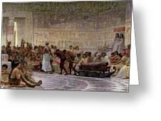 An Egyptian Feast Greeting Card by Edwin Longsden Long