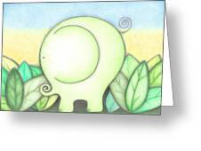 An Elephant For Erin Greeting Card