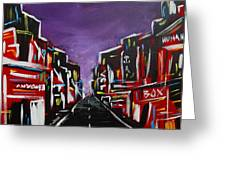An Empty Street At 3 A.m. Greeting Card