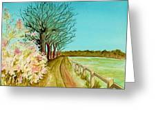 An English Footpath Greeting Card