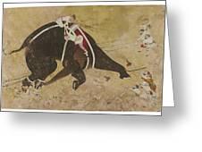 An Enraged Elephant Greeting Card