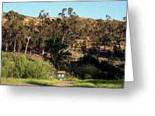 An Entrance To Peters Canyon Greeting Card