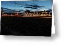 An Evening At The Train Station Greeting Card