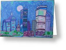 An Evening In Boston Greeting Card by Jess Lawrence