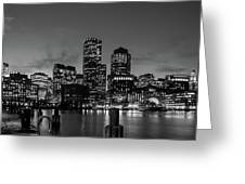 An Evening In Boston Greeting Card