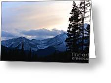 An Evening In The Mountains Greeting Card