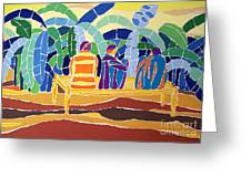 An Evening Near The Banana Plantation Greeting Card