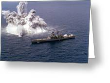 An Explosive Charge Is Detonated Greeting Card by Stocktrek Images