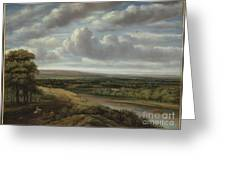 An Extensive Wooded Landscape Greeting Card