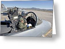 An F-15 Pilot Performs Preflight Checks Greeting Card by HIGH-G Productions