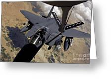 An F-15 Strike Eagle Prepares Greeting Card by Stocktrek Images