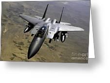 An F-15e Strike Eagle Aircraft Greeting Card