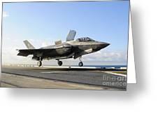 An F-35b Lightning II Lifts Greeting Card