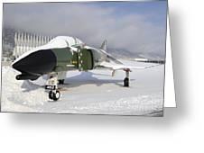 An F-4d Phantom II Aircraft Static Greeting Card