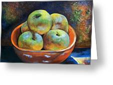 An Impression Of Apples  Greeting Card