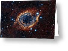 A Look In Infrared At The Helix Nebula Greeting Card