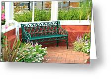 An Inviting Bench Greeting Card