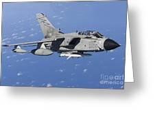 An Italian Air Force Tornado Ids Armed Greeting Card