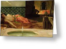 An Odalisque In A Harem Greeting Card by Benjamin Constant