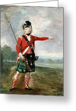 An Officer Of The Light Company Of The 73rd Highlanders Greeting Card by Scottish School