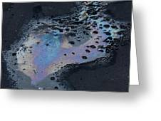 An Oil Slick On A Cobblestone Road Greeting Card
