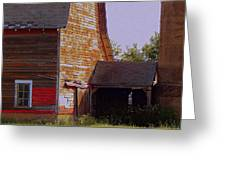 An Old Barn And Silo Greeting Card