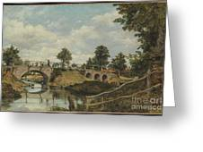 An Old Bridge At Hendon Greeting Card