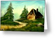 An Old Cabin In The Wild Greeting Card