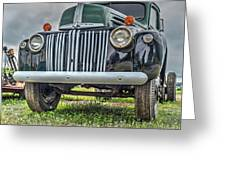 An Old Green Ford Truck Greeting Card