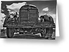 An Old International Truck Greeting Card