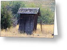 An Old Outhouse  Greeting Card