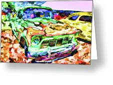 An Old Pickup Truck 1 Greeting Card