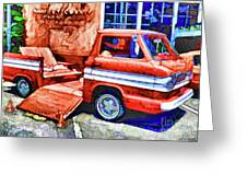 An Old Pickup Truck 2 Greeting Card