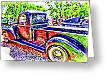 An Old Pickup Truck 3 Greeting Card