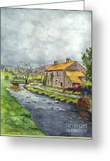 An Old Stone Cottage In Great Britain Greeting Card
