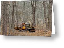 An Old Truck In The Woods. Greeting Card